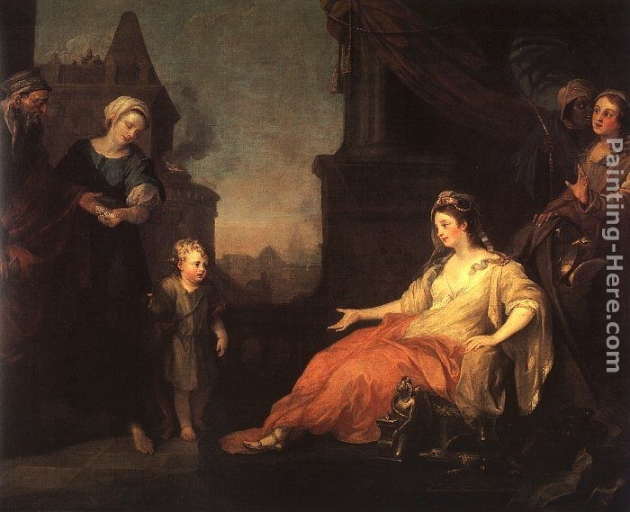 William hogarth moses brought before pharaoh 39 s daughter for William hogarth was noted for painting