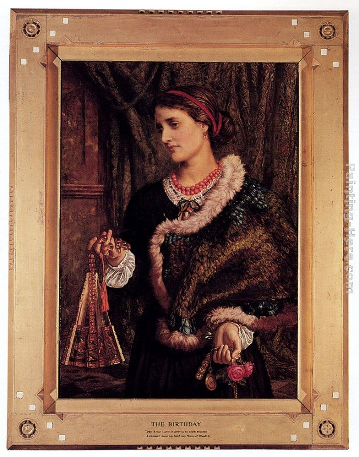 William Holman Hunt The Birthday A Portrait Of The Artist's Wife, Edith