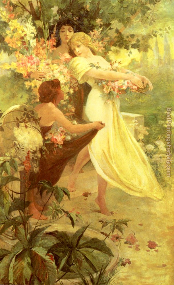 Alphonse Maria Mucha Paintings for sale