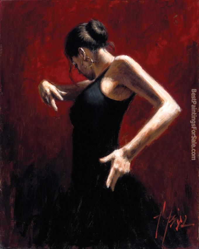 Flamenco Dancer Paintings for sale