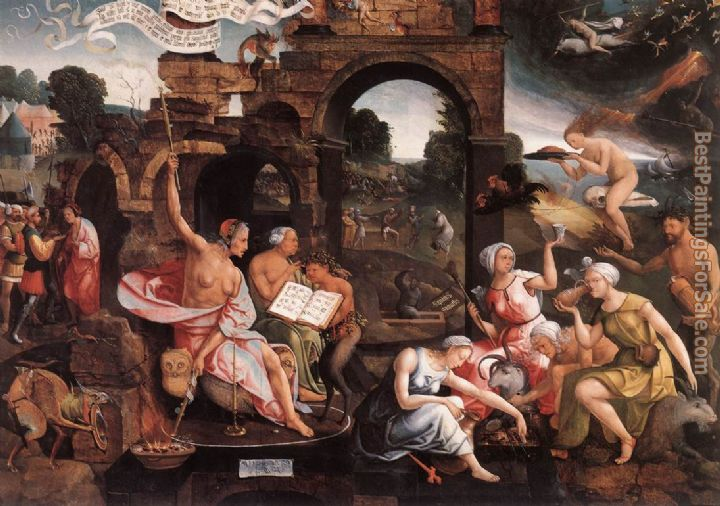 Jacob Cornelisz Van Oostsanen Paintings for sale