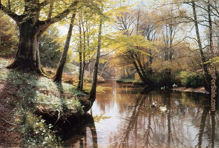 Peder Mork Monsted Paintings for sale