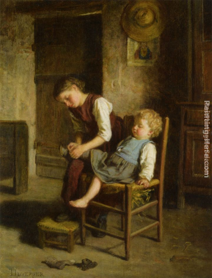 Theophile-Emmanuel Duverger Paintings for sale