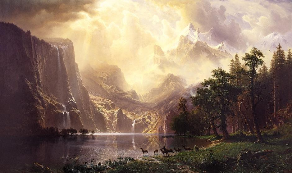 Albert Bierstadt Among the Sierra Nevada Mountains California