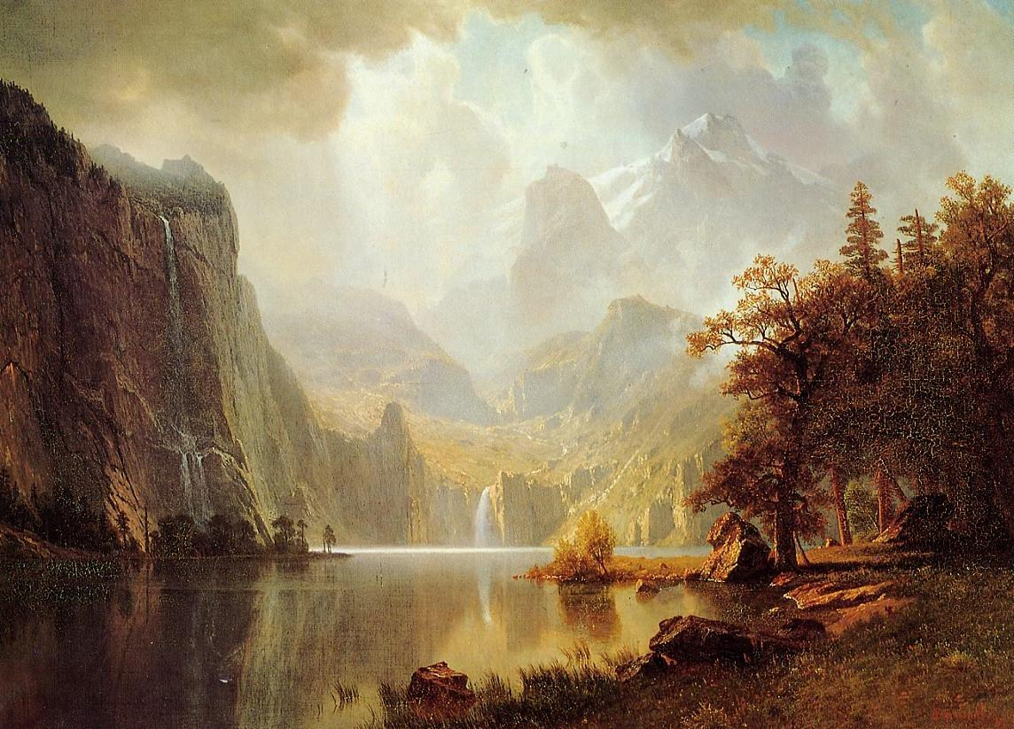 Albert Bierstadt In the Mountains