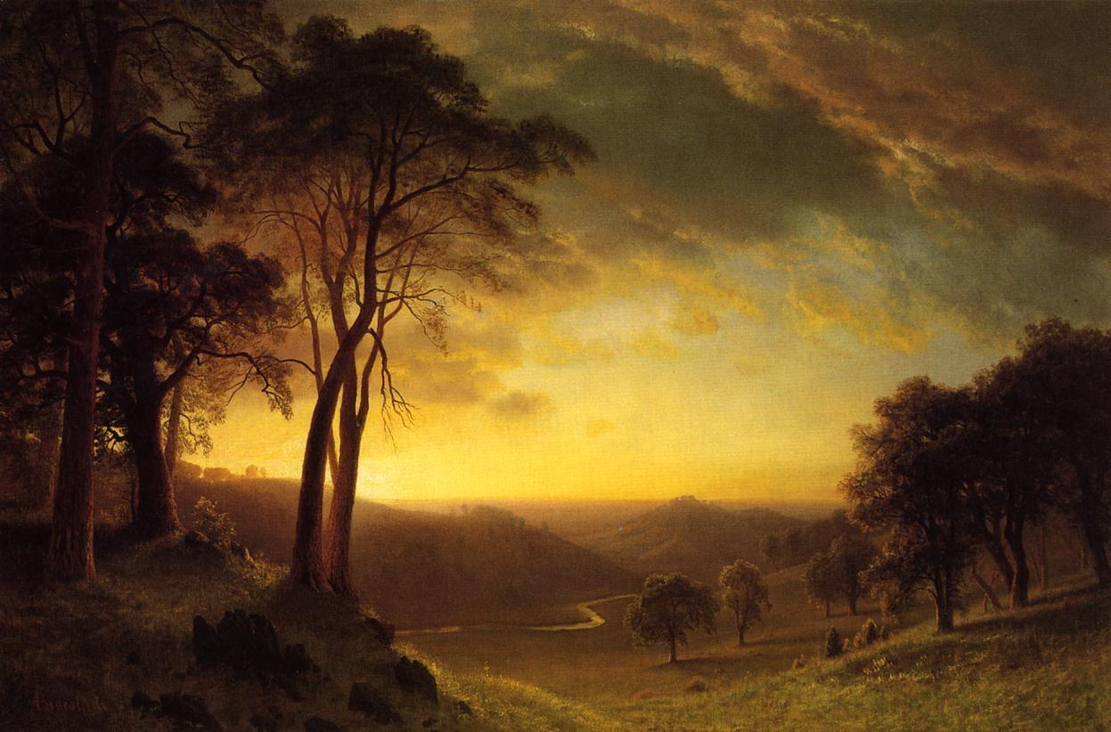 Albert Bierstadt Sacramento River Valley