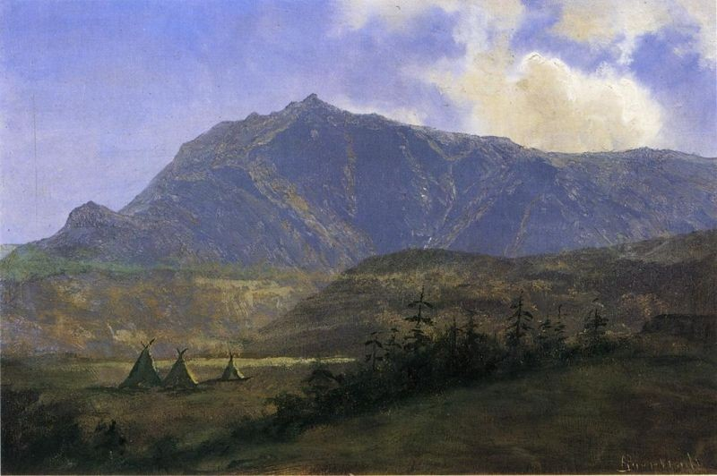 Albert Bierstadt Indian Encampment