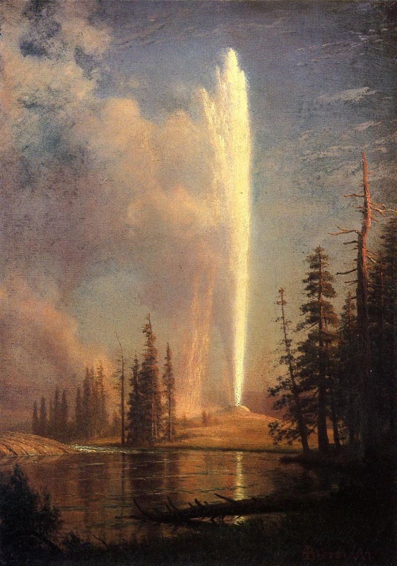 Albert Bierstadt Old Faithful