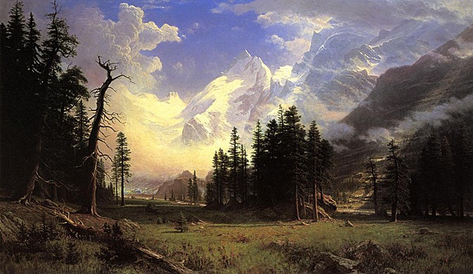 Albert Bierstadt The Morteratsch Glacier Upper Engadine Valley Pontresina