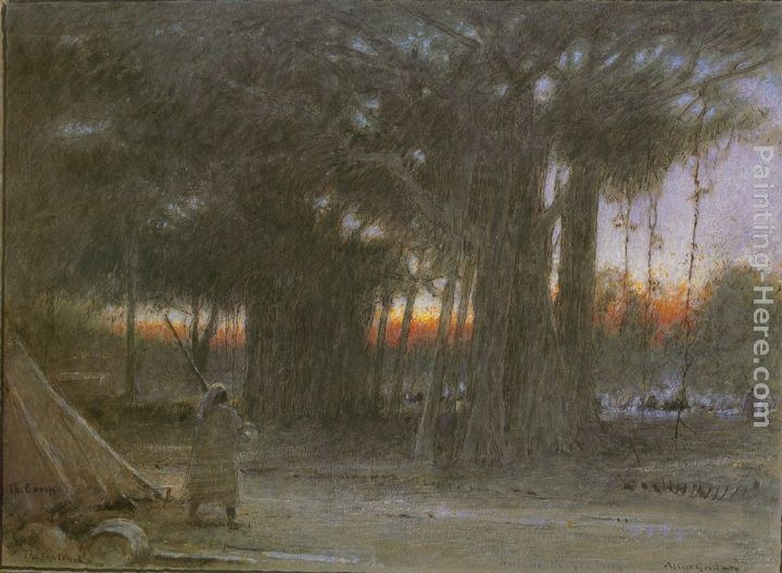 Albert Goodwin The Banyan Trees and the Sentinel