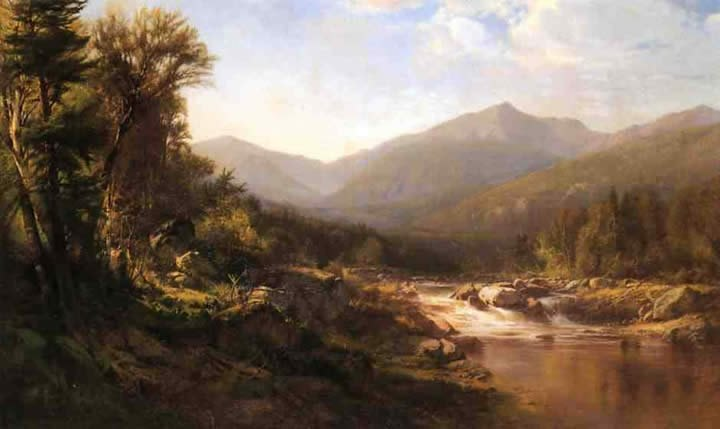 Alexander Helwig Wyant Landscape with Mountains and Stream