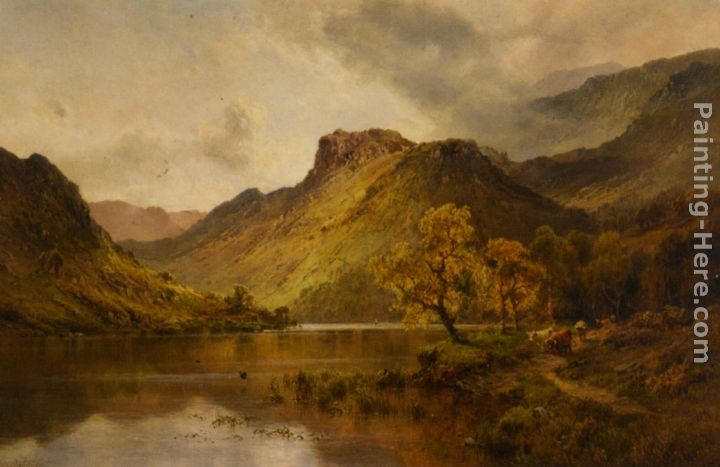 Alfred Fontville De Breanski The Gwynant Valley North Wales
