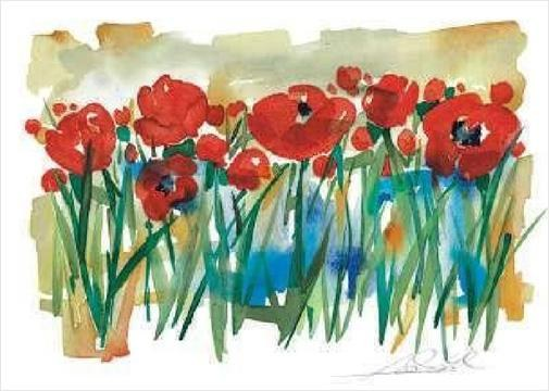 Alfred Gockel Field of Poppies
