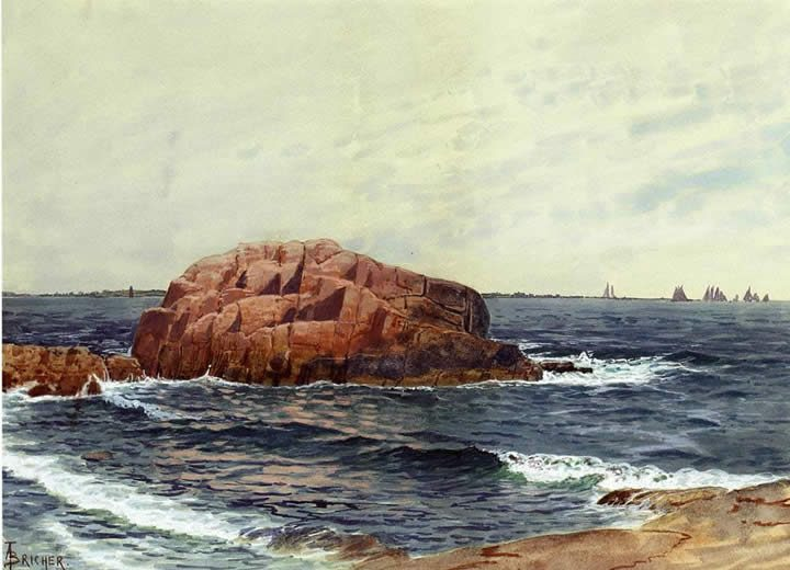 Alfred Thompson Bricher Rocks near the Coast