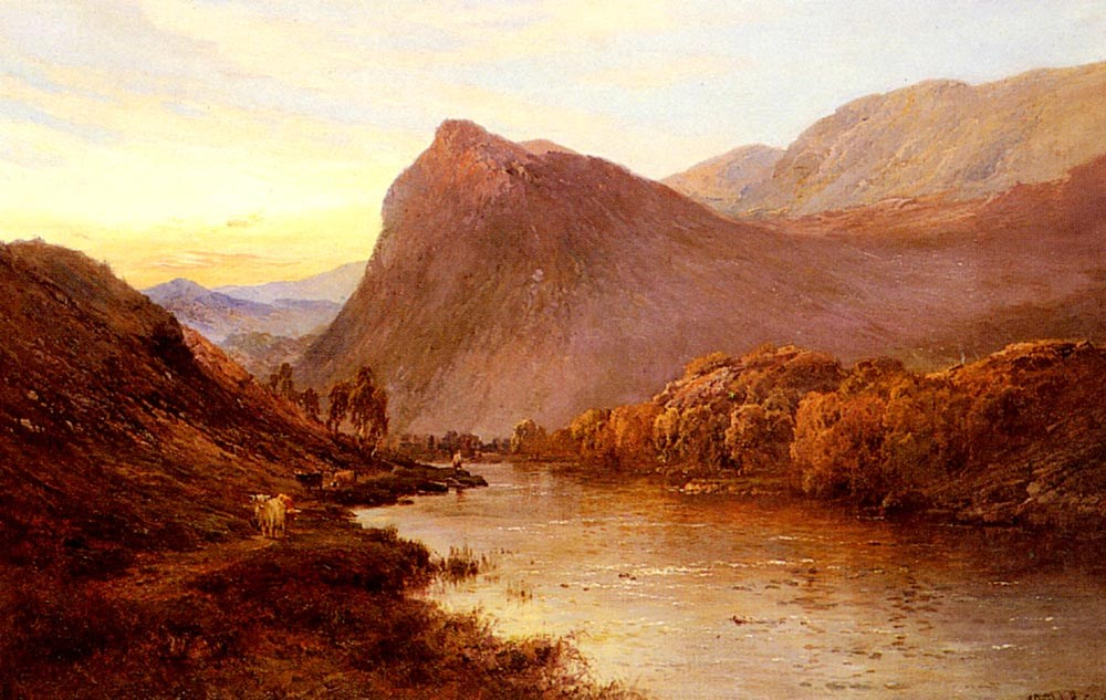 Alfred de Breanski Sunset In The Glen