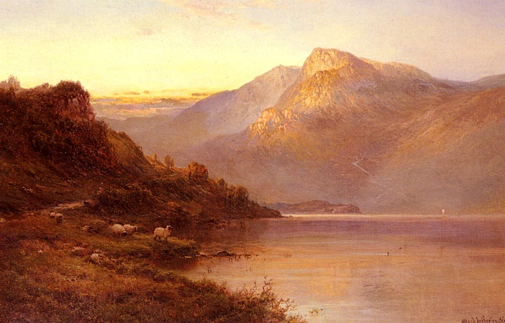 Alfred de Breanski Sunset On The Loch