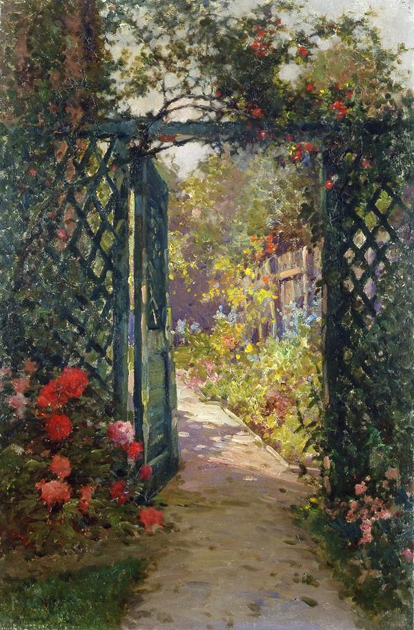 Alfred de Breanski The Garden Gate