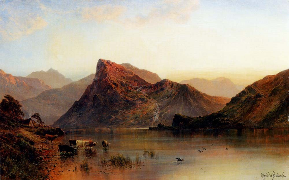 Alfred de Breanski The Glydwr Mountains, Snowdon Valley, Wales