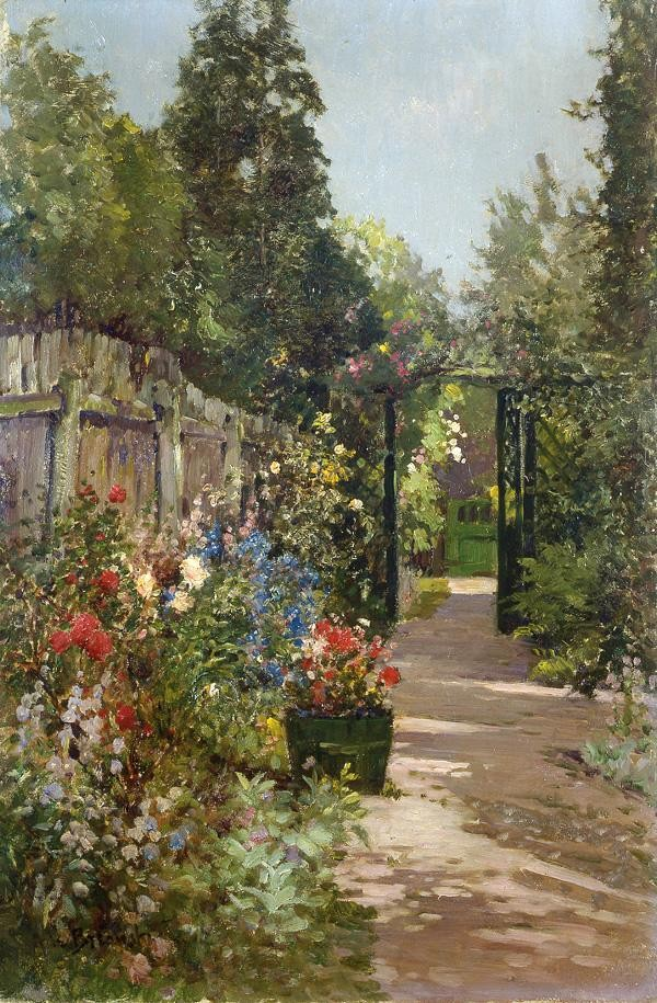 Alfred de Breanski The Summer Garden