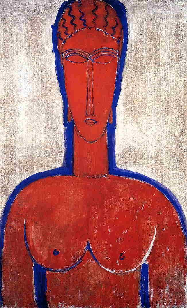 Amedeo Modigliani Big Red Bust