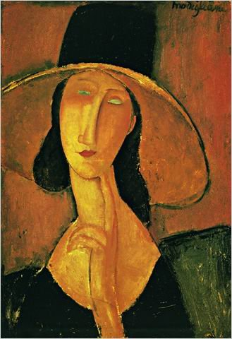 Amedeo Modigliani Jeanne Hebuterne in Red Shawl