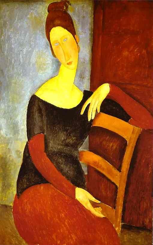 Amedeo Modigliani Portrait of Jeanne Hebuterne 1