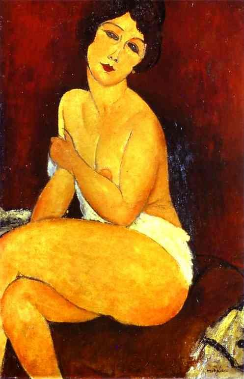 Amedeo Modigliani Seated Nude on Divan