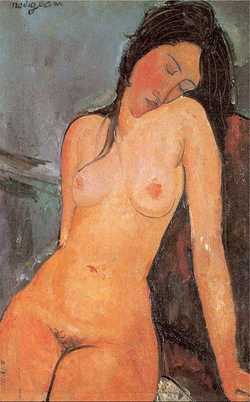 Amedeo Modigliani Seated Nude