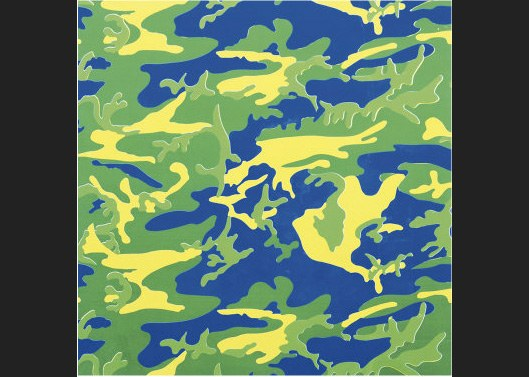 andy warhol camouflage green blue yellow painting best. Black Bedroom Furniture Sets. Home Design Ideas