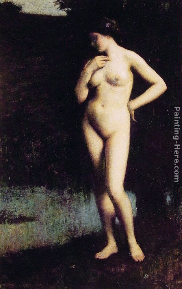 Antony Troncet Standing Nude before the Lake