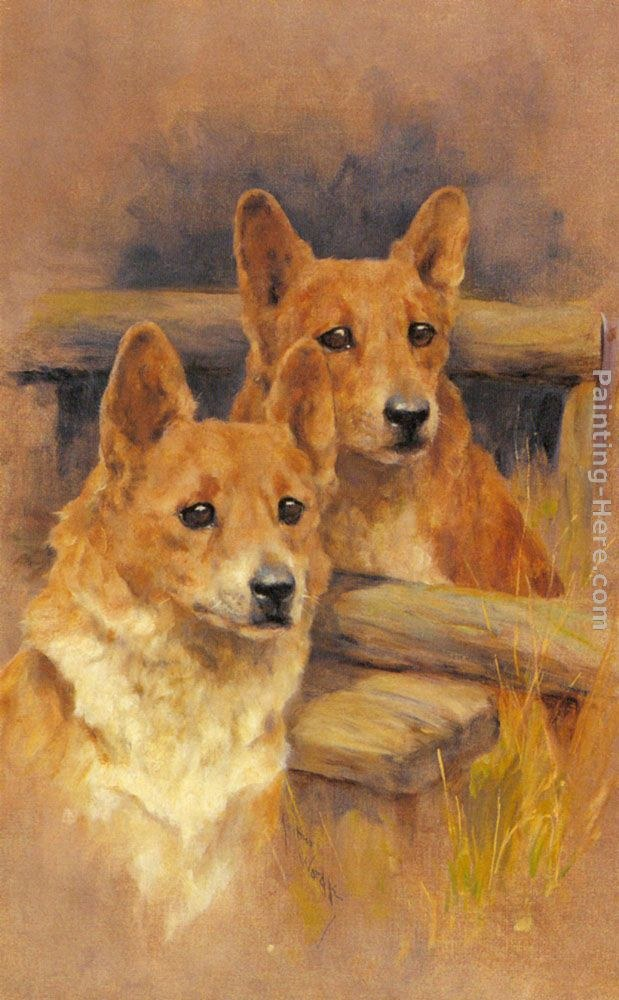 Arthur Wardle Two Corgies