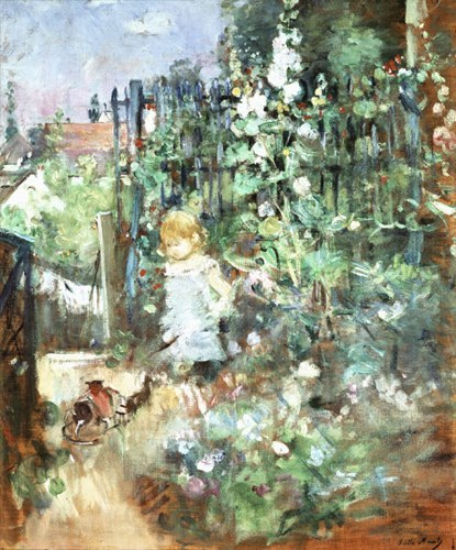 Berthe Morisot Child among Staked Roses