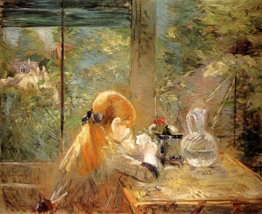 Berthe Morisot On The Veranda