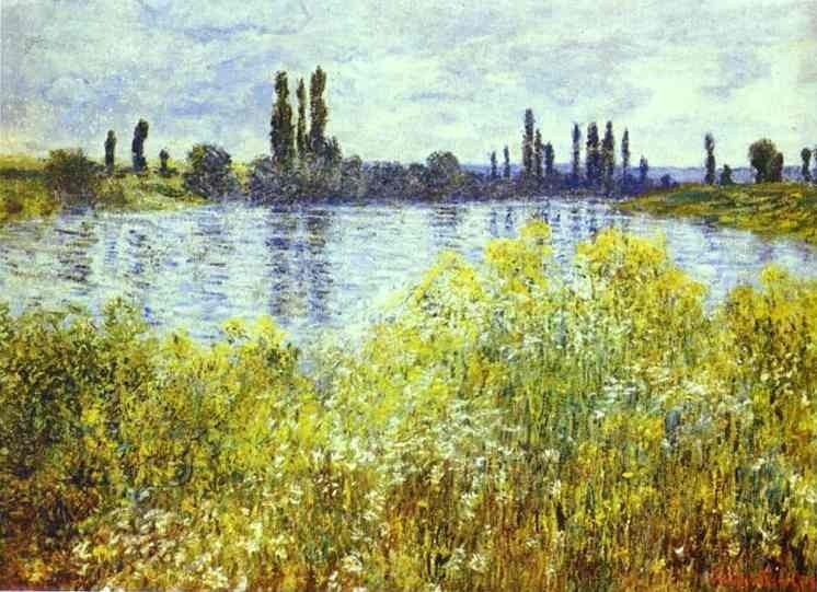 Claude Monet Bank of the Seine Vetheuil