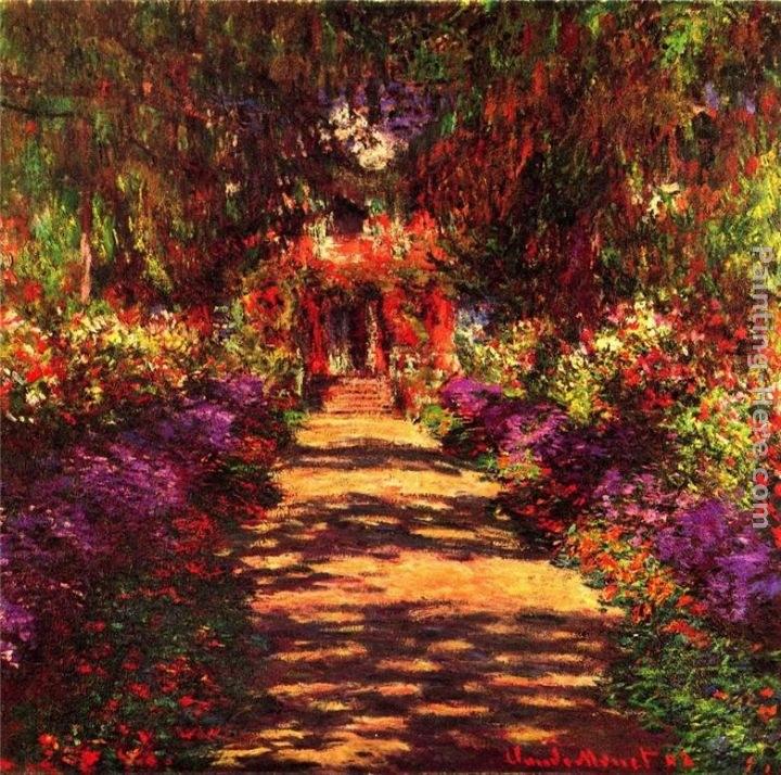 Claude Monet Garden Path At Giverny