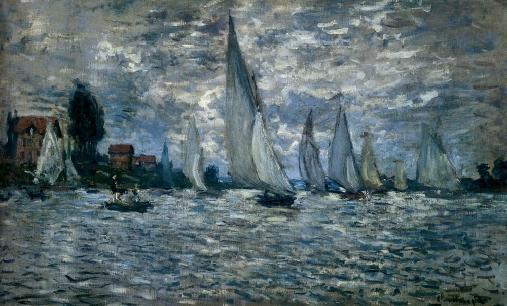 claude monet the boats regatta at argenteuil painting best the boats regatta at argenteuil. Black Bedroom Furniture Sets. Home Design Ideas