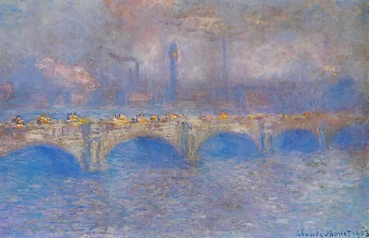Claude Monet Waterloo Bridge Sunlight Effect 3