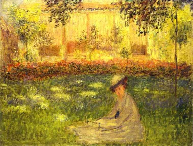 Claude Monet Woman Sitting in a Garden