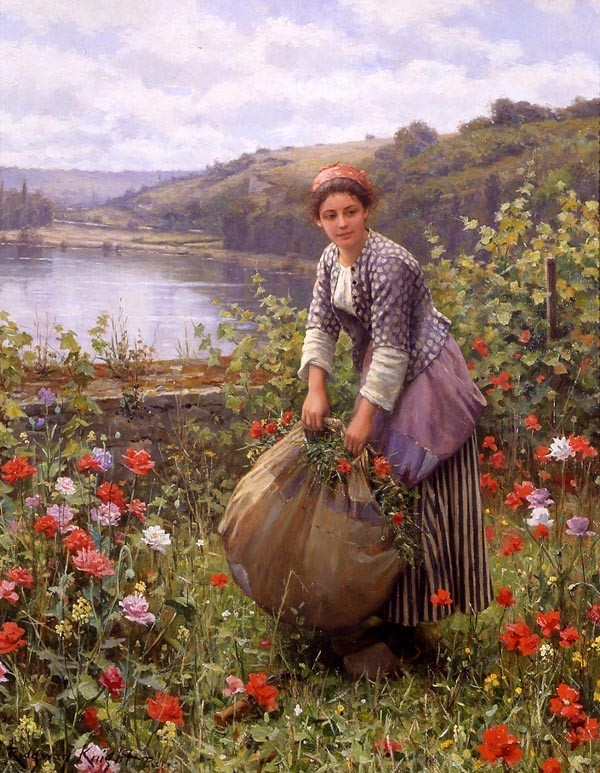 Daniel Ridgway Knight The Grass Cutter