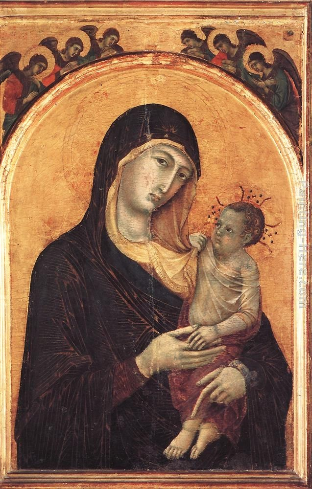 Duccio di Buoninsegna Madonna and Child with Six Angels