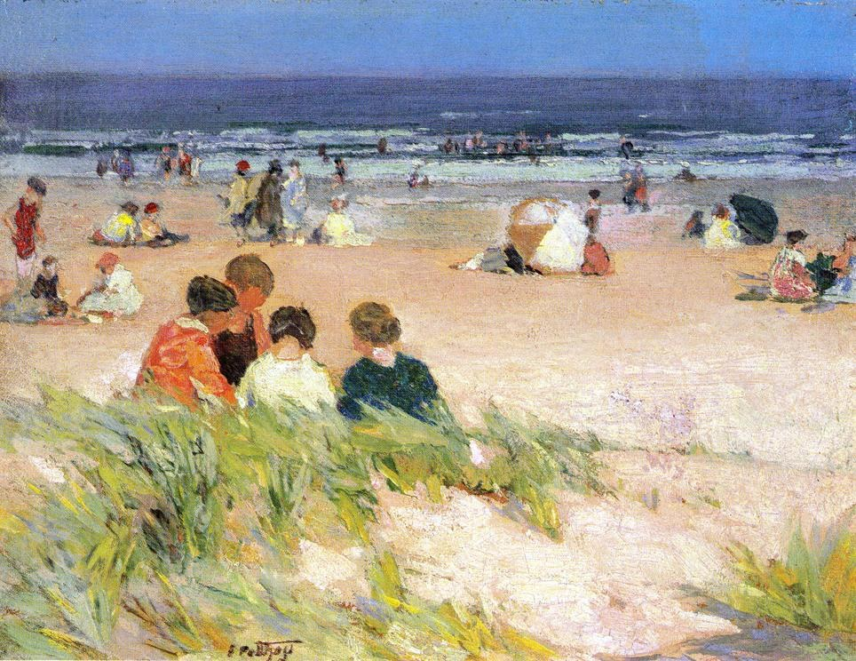 Edward Henry Potthast By the Shore