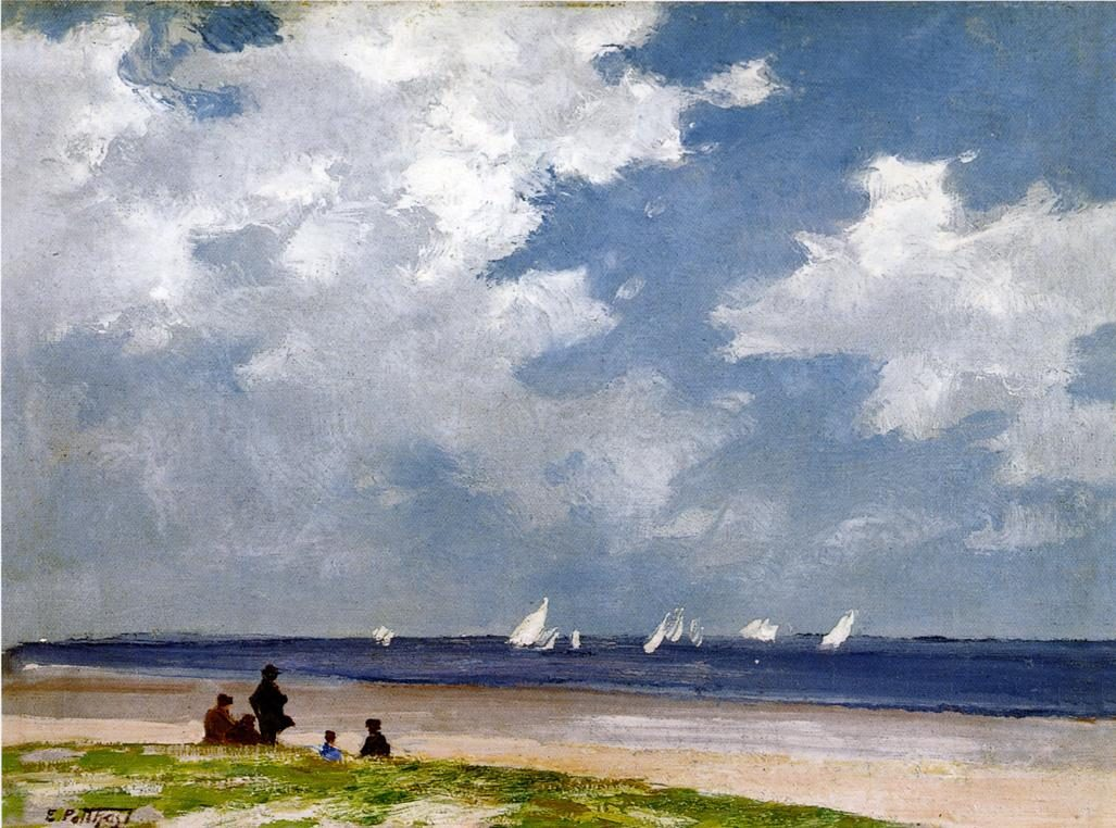Edward Henry Potthast Sailboats off Far Rockaway