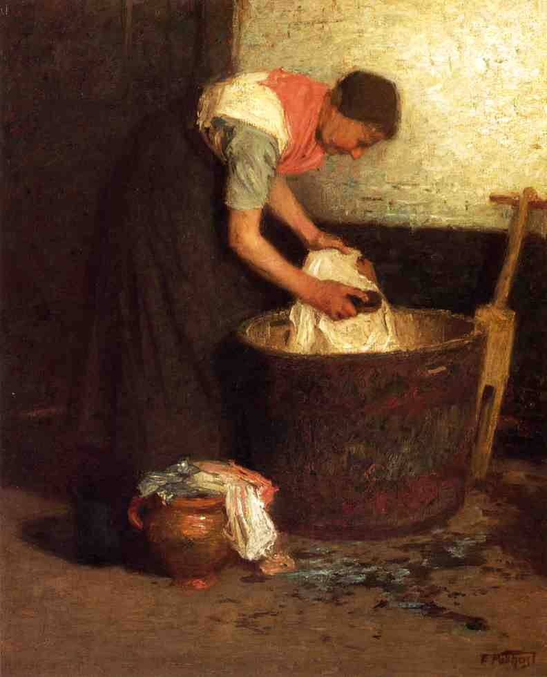 Edward Henry Potthast The Washerwoman