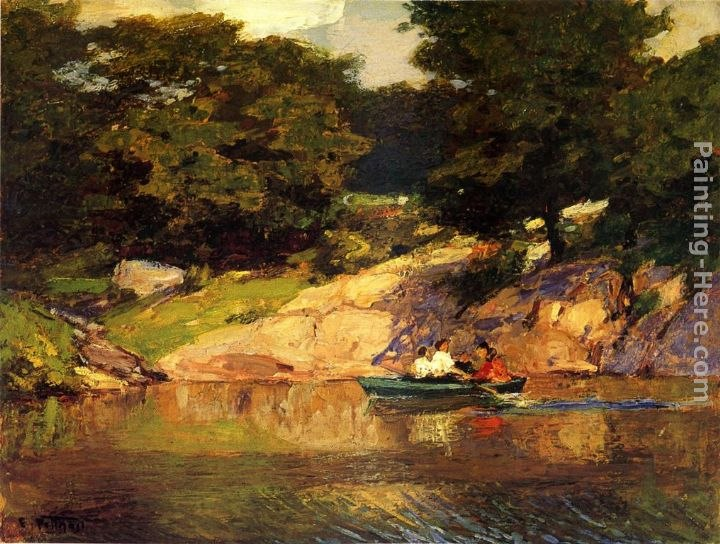 Edward Potthast Boating in Central Park