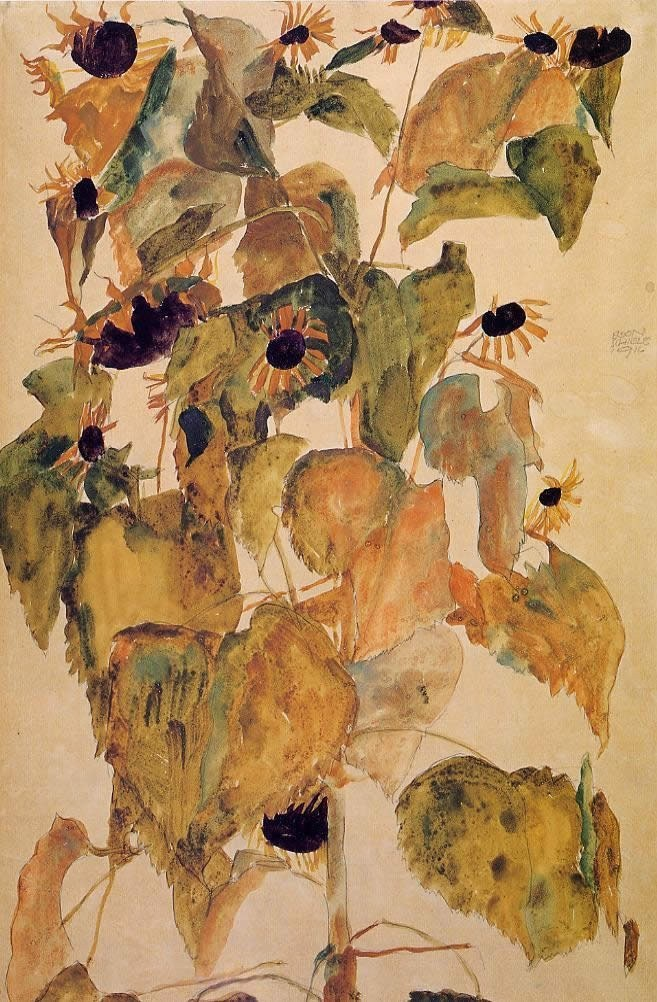 Egon schiele sunflowers painting best sunflowers for Large artwork for sale
