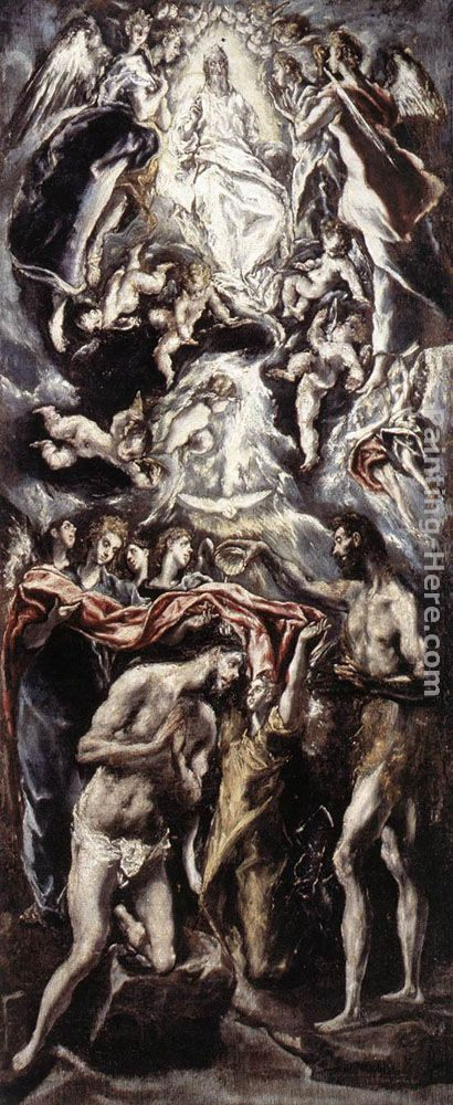 El Greco Baptism of Christ