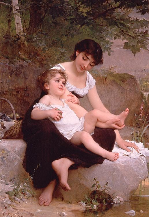 Emile Munier Mother and Child