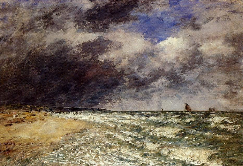Eugene Boudin A Squall from Northwest