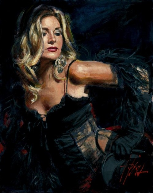 Fabian Perez Lori with Black Hat