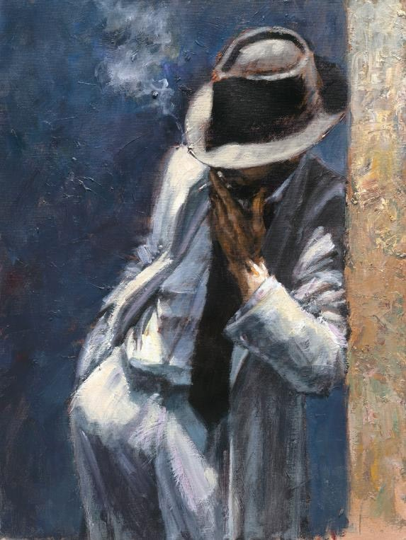 Fabian Perez Man in white suit